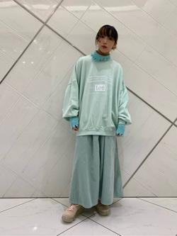 熊本COCOSA店のRinさんのLeeの【再値下げ Winter sale】【セットアップ対応】STANDARD WARDROBE COWGIRL ロングスカート(コーデュロイ)を使ったコーディネート