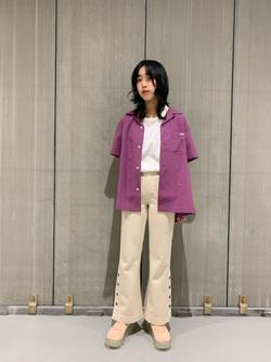 熊本COCOSA店のRinさんのLeeの【シークレットセーール!!】オープンカラーシャツ 半袖(POPLIN WASHER)を使ったコーディネート