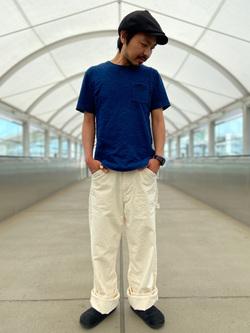 成田空港店(閉店)のKazuhikoさんのLeeの【ユニセックス】DUNGAREES ペインターパンツを使ったコーディネート