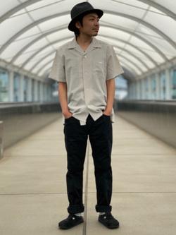成田空港店(閉店)のKazuhikoさんのLeeの終了【シークレットセーール!!】オープンカラーシャツ 半袖(POPLIN WASHER)を使ったコーディネート