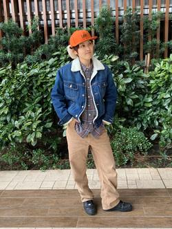 Lee 武蔵小杉店のけーちゃんさんのLeeの終了【FINAL SALE】2WAY フライトキャップを使ったコーディネート