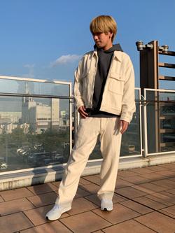 ららぽーと横浜のshoheiさんのLeeの【セットアップ対応】チェトパ トラウザーパンツを使ったコーディネート