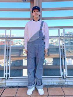 ららぽーと横浜のshoheiさんのLeeの【年間ベストセラー】オーバーオールを使ったコーディネート