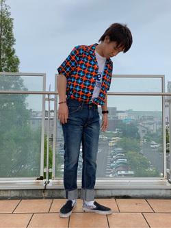 ららぽーと横浜のshoheiさんのLeeのAMERICAN RIDERS 203 テーパードを使ったコーディネート