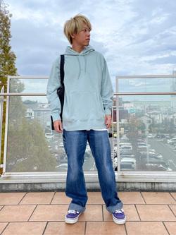 ららぽーと横浜のshoheiさんのLeeの【ユニセックス】DUNGAREES ペインターパンツを使ったコーディネート