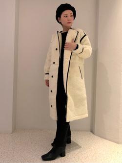 ルミネエスト新宿店のAyumiさんのLeeの【Winter sale】【寒い冬もあたたかい】ロングボアジャケットを使ったコーディネート