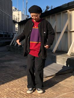ルミネエスト新宿店のAyumiさんのLeeの【Winter sale】【ユニセックス】【やわらかフリース】ノーカラージャケットを使ったコーディネート