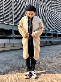 ルミネエスト新宿店のAyumiさんのLeeの【ユニセックス】【着回し力抜群】フリース コートを使ったコーディネート