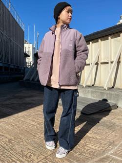 ルミネエスト新宿店のAyumiさんのLeeの【Winter sale】【ユニセックス】フリースジップアップジャケットを使ったコーディネート