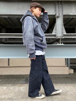 ルミネエスト新宿店のAyumiさんのLeeの【再値下げ Winter sale】【USED WASH】スウェットパーカーを使ったコーディネート