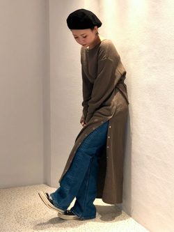 ルミネエスト新宿店のAyumiさんのLeeの【ガレージセール】サーマルロングドレスを使ったコーディネート