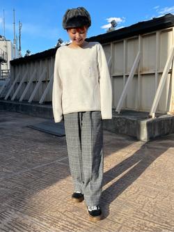 ルミネエスト新宿店のAyumiさんのLeeの【再値下げ Winter sale】TRAD GIRL ダッド トラウザーパンツを使ったコーディネート