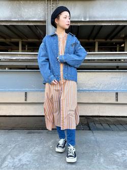 ルミネエスト新宿店のAyumiさんのLeeの終了【ガレージセール】【直営店・WEB限定】袖ボリューム ロングシャツ ワンピースを使ったコーディネート