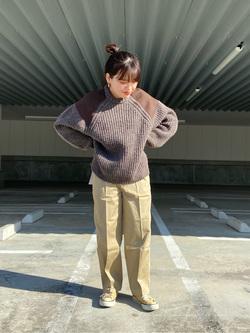 エスパル仙台店のnanakoさんのLeeのミリタリー パッチワークセーターを使ったコーディネート