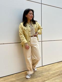 エスパル仙台店のnanakoさんのLeeの【セットアップ対応】シャツジャケットを使ったコーディネート