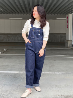 エスパル仙台店のnanakoさんのLeeの【オールシーズン着回せる】オーバーオール テーパードを使ったコーディネート