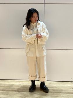 エスパル仙台店のnanakoさんのLeeの【直営店・WEB限定】ビッグポケット シャツジャケットを使ったコーディネート