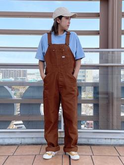 ららぽーと横浜のsatoさんのLeeの【年間ベストセラー】オーバーオールを使ったコーディネート