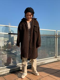 ららぽーと横浜のsatoさんのLeeの【トップス15%OFFクーポン対象】【ふっくらボア】CPO ロングシャツを使ったコーディネート
