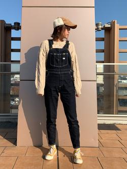 ららぽーと横浜のsatoさんのLeeの【すっきり着こなす】オーバーオール ストレッチスリムを使ったコーディネート