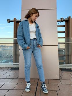 ららぽーと横浜のsatoさんのLeeの【再値下げ Winter sale】91B デニムジャケットを使ったコーディネート