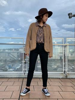 ららぽーと横浜のsatoさんのLeeの【新定番】人気のストレッチジェギンス すっきりスキニーを使ったコーディネート