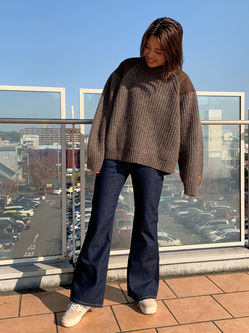 ららぽーと横浜のsatoさんのLeeの【トップス15%OFFクーポン対象】ミリタリー パッチワークセーターを使ったコーディネート