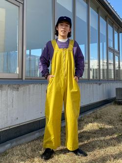 西宮ガーデンズ店のShimpeiさんのLeeの【限定カラー】【ユニセックス】バルーンサロペット/オーバーオールを使ったコーディネート