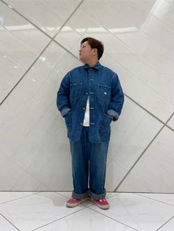 熊本COCOSA店のkazukiさんのLeeの【シークレットセーール!!】Lee×Dickies ドッキングワークパンツ2(デニム)【ユニセックス】を使ったコーディネート