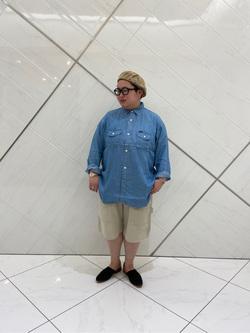 熊本COCOSA店のkazukiさんのLeeの終了【再値下げ!サマーセール】LEE PIPES バギーショーツを使ったコーディネート