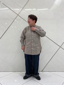熊本COCOSA店のkazukiさんのLeeのスタンドカラー長袖シャツを使ったコーディネート
