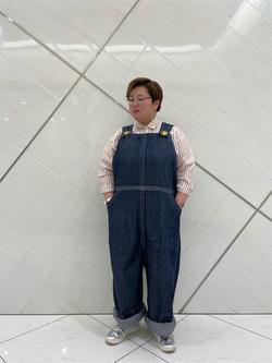 熊本COCOSA店のkazukiさんのLeeの【シークレットセーール!!】BUDDY LEE オーバーオール【ユニセックス】を使ったコーディネート