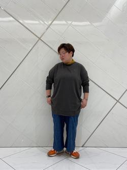 熊本COCOSA店のkazukiさんのLeeの【着回し力抜群】ビッグフィット長袖カットソーを使ったコーディネート