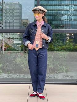 アミュプラザ熊本店のYUUKOさんのLeeの【MY定番】デニムジャケットを使ったコーディネート