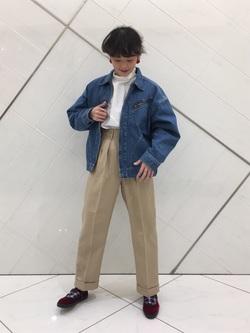 熊本COCOSA店のYUUKOさんのLeeの【Pre sale】ビックショルダーシャツを使ったコーディネート