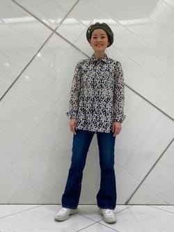 熊本COCOSA店のYUUKOさんのLeeのSTANDARD WARDROBE フレアーを使ったコーディネート