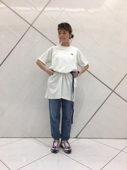 熊本COCOSA店のYUUKOさんのLeeの終了【おうち時間応援セール】GIベルトを使ったコーディネート