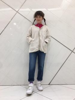 熊本COCOSA店のYUUKOさんのLeeの【再値下げ Winter sale】【ユニセックス】【やわらかフリース】ノーカラージャケットを使ったコーディネート