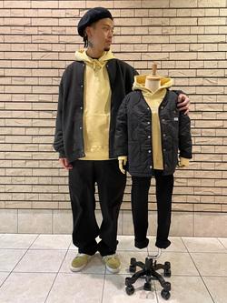 札幌パセオ店のgenさんのLeeの【SALE】キッズ ワンポイントロゴ刺繍フーディ/パーカー【110/130/150】を使ったコーディネート