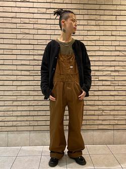 札幌パセオ店のgenさんのLeeの【Winter sale】【オーガニックコットン素材】ワッフル ベーシック長袖Tシャツを使ったコーディネート