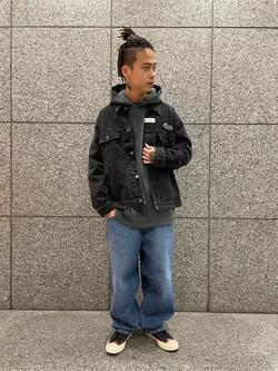 札幌パセオ店のgenさんのLeeの【トップス15%OFFクーポン対象】LEE PIPES ビッグフィット バギージャケットを使ったコーディネート