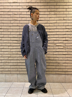 札幌パセオ店のgenさんのLeeの【Pre sale】【オーガニックコットン素材】ワッフル ベーシック長袖Tシャツを使ったコーディネート