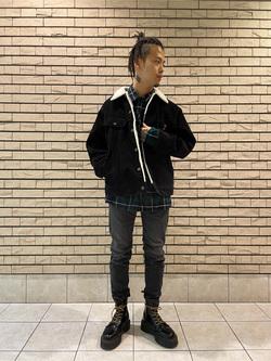 札幌パセオ店のgenさんのLeeのBOA STORM RIDER ジャケット【コーデュロイ】を使ったコーディネート
