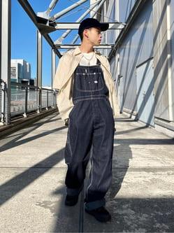 札幌パセオ店のgenさんのLeeの【15%OFFクーポン対象】【年間ベストセラー】オーバーオールを使ったコーディネート