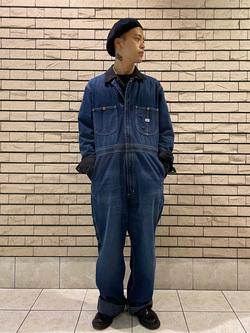 札幌パセオ店のgenさんのLeeの【男女兼用】DUNGAREES UNION-ALLS/つなぎ/ジャンプスーツ/オールインワンを使ったコーディネート