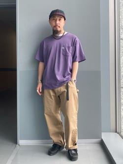 Lee アミュプラザ博多店のえんどうさんのLeeの【TOPS 15%OFFクーポン対象】【SALE】【ユニセックス】ワンポイントロゴ刺繍 半袖Tシャツを使ったコーディネート