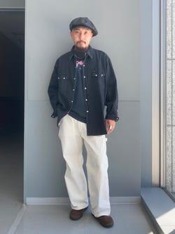 Lee アミュプラザ博多店のえんどうさんのLeeのBLACK RIDERS デニムシャツを使ったコーディネート