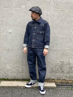 Lee アミュプラザ博多店のえんどうさんのLeeの【予約】【Archives】WWII 大戦モデル101 COWBOY PANTSを使ったコーディネート
