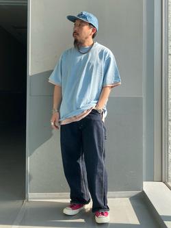 Lee アミュプラザ博多店のえんどうさんのLeeの【SALE】USED加工 半袖Tシャツを使ったコーディネート
