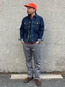 Lee アミュプラザ博多店のえんどうさんのLeeの101J デニムジャケットを使ったコーディネート